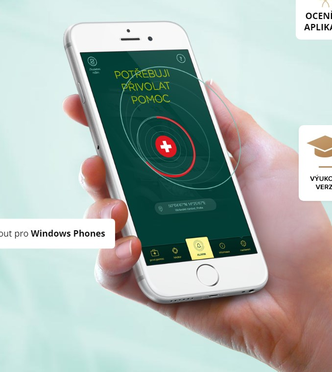Stáhněte si aplikaci ZÁCHRANKA do svých mobilů